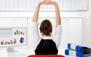 сохранить здоровье в офисе