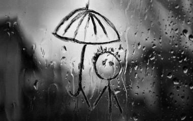 смайлик под дождем