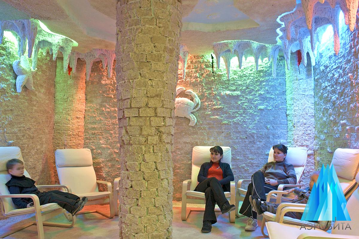 Соляная пещера с ультразвуковым галогенератором Аэровита